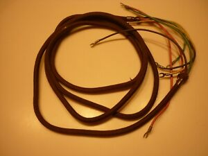 Original Western Electric Telephone Brown 4 Wire Ringer Box Cloth Cord