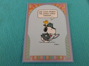 "Vintage Ambassador greeting card Peanuts by Schulz 1970s?  ""Charlie Brown"""