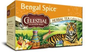 Celestial Seasonings Bengal Spices Tea 20 Bags (Pack of 6)
