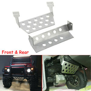 5*Metal Chassis Armor Protection Skid Plate for 1/10 TRAXXAS TRX-4 T4 RC Car New