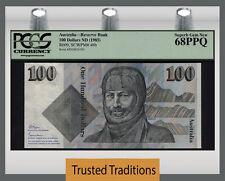 TT PK 48b 1985 AUSTRALIA 100 DOLLARS  PCGS 68 PPQ SUPERB GEM TOP POP NONE FINER