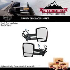 Trail Ridge Towing Mirror Power Heated Turn Signal Pair Set for Chevy GMC Truck