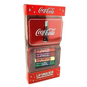 Lip Smacker Coca Cola Lip Balm | 4 Flavors w/ Collectible Tin | New Sealed