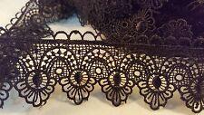 4.5cm - Negro magnífico 1 metros el entorchado ajuste del cordón de Venecia para Artesanías Costura hágalo usted mismo