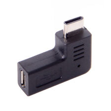 USB-C Type-C Male to Micro USB 2.0 5Pin Female Data Adapter90 Degree Angled Type