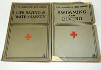 American Red Cross 1937/38 SWIMMING & DIVING And LIFE SAVING & WATER SAFETY