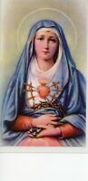 SEVEN SORROWS OF MARY - Laminated  Holy Cards.  QUANTITY 25 CARDS