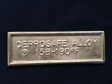 Cerrosafe 160-190 Chamber Casting Alloy 1/2 lb. ingot