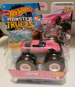 "2021 HOT WHEELS Monster Trucks ""Barbie"" Monster Vette THUNT MIP 1/64 Diecast"