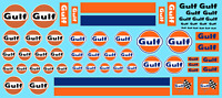 DECALS GULF 1/43 1/32 1/24 1/18 GASOLINE MOTOR OIL LE MANS DECALCOMANIE decal