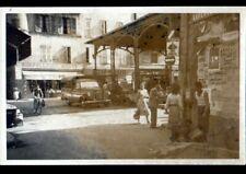 FIGEAC (46) Commerces CHAPELLERIE & SALON de COIFFURE à la HALLE au Marché 1955