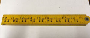 Vintage Rabone Chesterman No.1304 Tufrule Fibron 3ft/1m Folding Rule