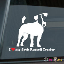 I Love My Jack Russell Terrier Sticker Die Cut Vinyl - jrt parson