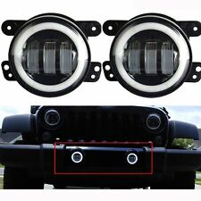 2x 4 inch LED Fog Lights Lamp white Halo For 2011-2013 Jeep Grand Cherokee 50053