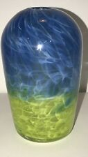 Contemporary Hand Blown; Art Glass Bud Vase; Very Van Gogh