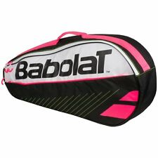 BABOLAT CLUB LINE (CLUBLINE)  3 RACKET TENNIS BAG, BLACK PINK WHITE 2017