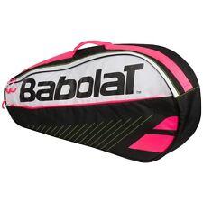 BABOLAT CLUB LINE (Clubline) 3 Racchetta tennis Borsa, Nero Rosa Bianco 2017