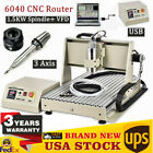 3 Axis Engraver 1.5KW Spindle+ VFD USB 6040 CNC Router Drill Engraving Machine