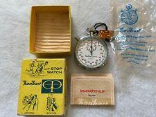 New Old Stock Vintage Hanhart Premier 7 Jewels 1/10 Mechanical Wind Up Stopwatch