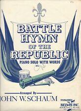 Battle Hymn of the Republic, arranged by John W. Schaum 1952