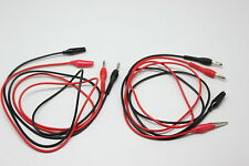 Banana plug 2 aligator clip test leads 4 FLUKE multimeter 80cm 2 pairs UK ship