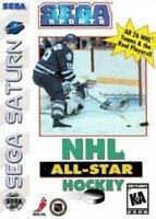 NHL All Star Hockey Sega Saturn Game Used