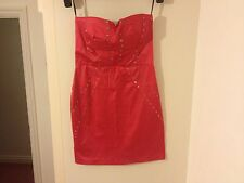 *NEW* ELISE RYAN Dress Size 8 Pink Smart Fitted Prom Ball Party Cocktail Evening