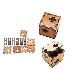 3D Wood Puzzle Brain Teaser Tetris Cube Kids Intelligence Game Toy BS