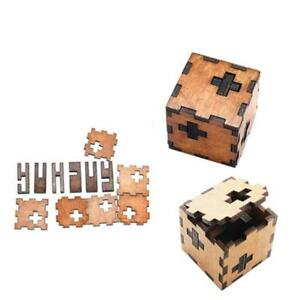 Creative Wooden Intelligence Game 3D Puzzle Brain Teaser Magic Toys 8C