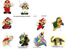 Au choix 1 Pin's_Informatique_Jeux Vidéo_Nitendo_Mario Bros_ATARI_Infogramme