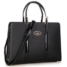 New Womens Handbags Leather Briefcase Satchel Tote Bags Shoulder Bag Purse Black