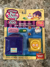 Kenner 1994 Littlest Pet Shop Zoo Mommy Hen With Chirpy Baby Chicks