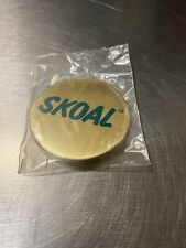 RARE Vintage Skoal snuff tobacco can lid cover Brass New In Package