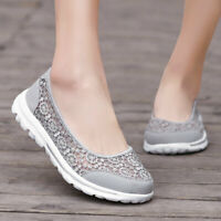 Women's Sneakers Casual Walking Flats Shoes Breathable Slip on Extra Depth Shoe