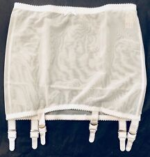 "Vintage Siesta White Open Bottom Girdle 6 Wide Metal garters Fit 33-34""XXL Waist"