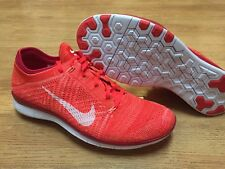 $150 NIKE FREE TR FLYKNIT BRIGHT CRIMSON FIRE RED WOMEN 12 MEN 10.5 RUNNING SHOE