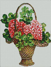 """Basket Of Flowers Counted Cross Stitch Kit 10"""" x 8"""""""