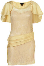 New lovely TOPSHOP cape back lace tunic dress UK 8 in Champagne