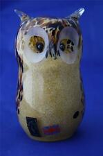 LANGHAM GLASS HAND-MADE CRYSTAL MEDIUM OWL - NEW / BOXED