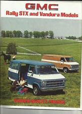 GMC RALLY STX AND VANDURA  VAN LORRY TRUCK SALES BROCHURE 1980