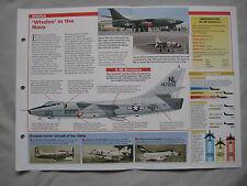 Aircraft of the World Card 185 , Group 4 - Douglas A-3 Skywarrior