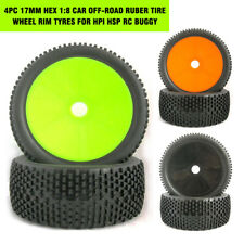 4PCS 17mm Hex 1:8 Car Off-Road Ruber Tire Wheel Rim Tyres For HPI HSP RC Buggy