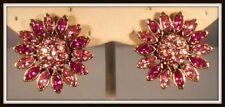 Heidi Daus Divine Miss Daisy Crystal Button Earrings Fuschia SWAROVSKI BEAUTIFUL