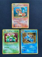 Pokemon Cards Charizard Blastoise Venusaur Holo Rare CD PROMO Set Lot
