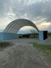 Weld On 26x40 Shipping Container Conex 15 Oz Pvc Fabric Building Shelter