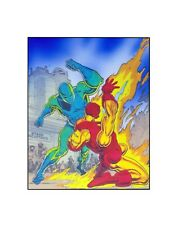Iron Man Marvel Comics Bronze Age vintage style sericel Burn, Baby, Burn!