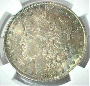 1889 USA Morgan Silver Dollar NGC MS64 Condition Beautiful Toning KM#110   (363)