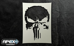 The Punisher 18 Inspired Quality Stencil Art - Special Ops Airsoft Skull Patriot