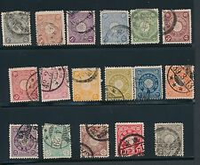 Japan (17) DIFFERENT CHRYSANTHEMUM ISSUES OF 1899-1907; USED; CV $20
