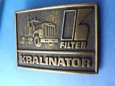 KRALINATOR FILTER VINTAGE TRANSPORT TRUCK BELT BUCKLE TRUCKER COLLECTOR CANADA